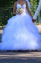 СРОЧНО!!! Свадебное платье в отличном состоянии.