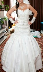 Продам свадебное платье  б/у  в отличном состоянии г. Речица