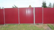 Въездные распашные металлические ворота и калитки. Каркас ворот.
